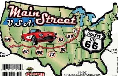 route 66 map usa route 66 usa map sticker route 66 gift shop