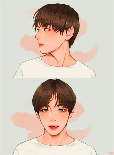 V Anime Drawing by V Looks Like An Anime Character K Pop Bts Bts Fans