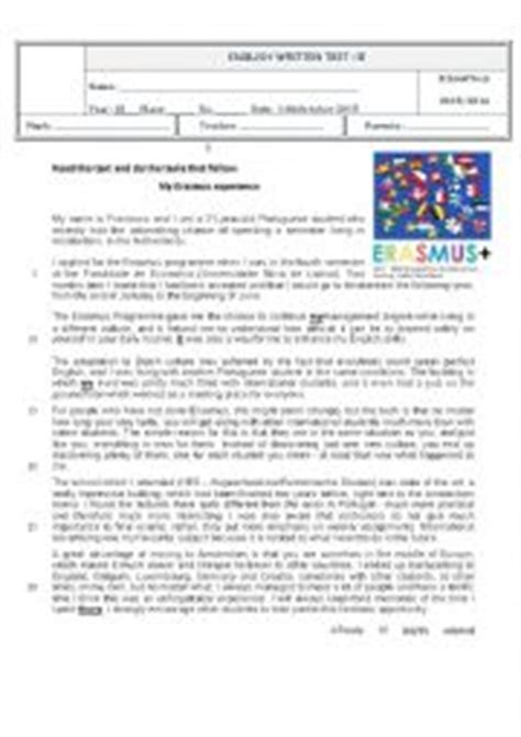 printable version languages english worksheets test 10th grade a world of many