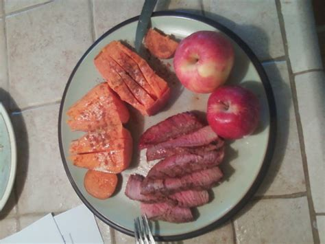 protein 4 oz steak day before workout 2 legs boise experiment
