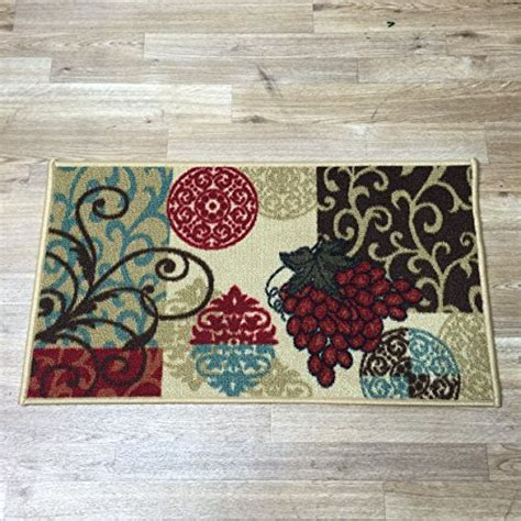 decorative chef themed nonskid area accent runner rug compare price to grape theme kitchen decor tragerlaw biz