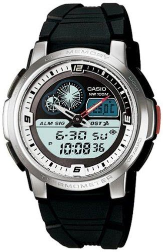 Jam Casio Thermometer casio aqf102w 7bv men s analog digital thermometer tide graph special days gift