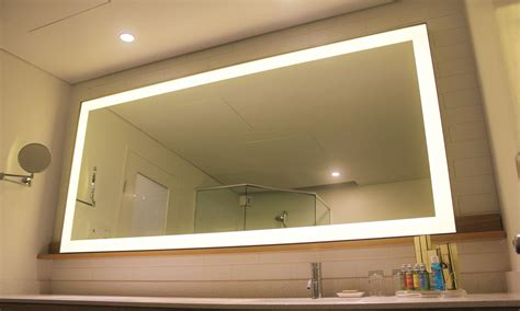 metal frame lights edge metal frame lighted mirror clearlight designs