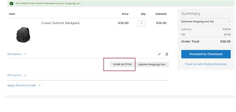 Update Cart Event Magento | solved how to add a button adjacent to update cart button