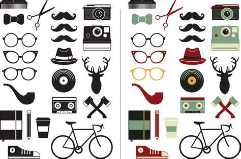 Hipster Design Elements Vector | hipster vector elements set free download