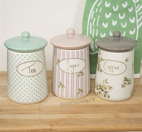 storage canisters for kitchen ceramic tea coffee sugar sets the coffee table