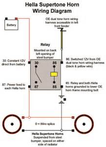 hella supertone horns kit electrical wiring diagram binatani