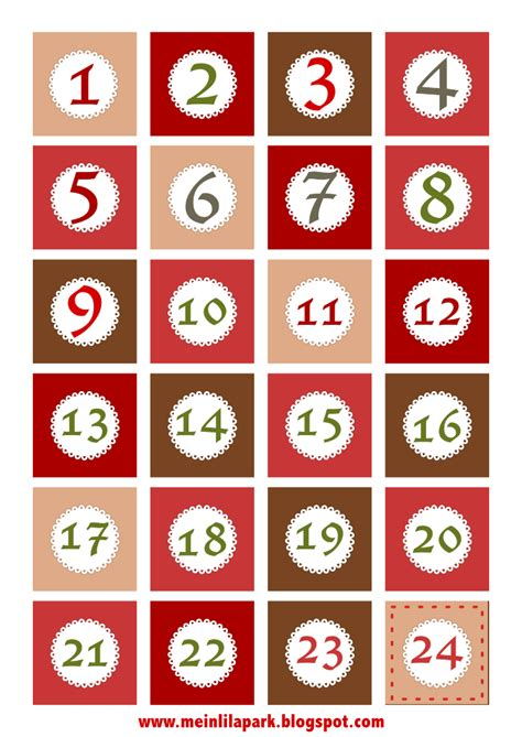 printable calendar numbers free printable christmas advent calendar numbers and