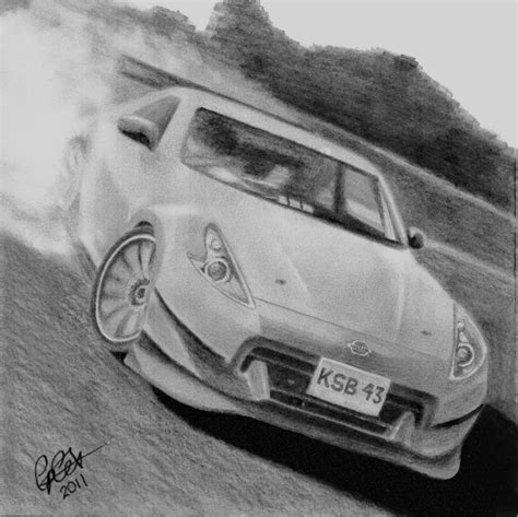 drift cars drawings 370z fairlady drift car by coxzee on deviantart