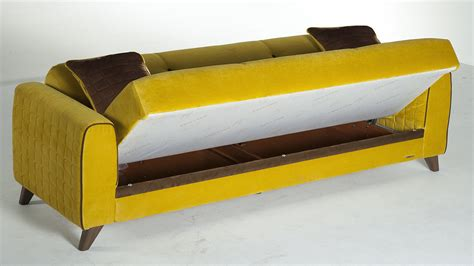 Yellow Sofa Bed Fabio Lilyum Yellow Convertible Sofa Bed By Sunset