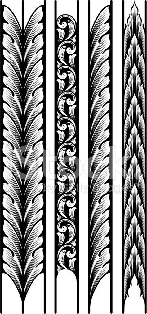 Victorian Home Designs by Engraved Leaf Borders Stock Photos Freeimages Com