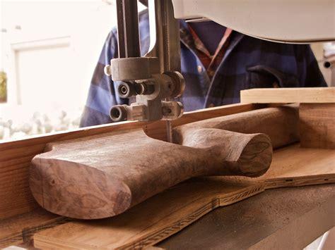 walnut prone rifle stock doan trevor custom rifle building