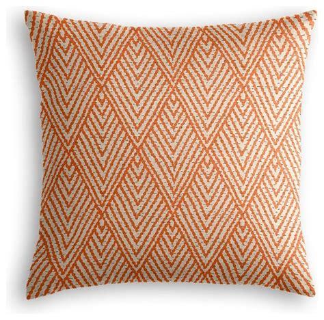 Orange Throw Pillows Tribal Orange Throw Pillow Transitional