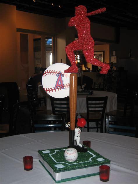 baseball themed centerpiece sports