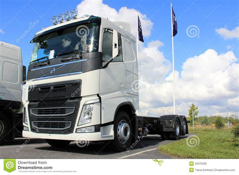 new truck volvo white new volvo fh truck editorial image image of lorry