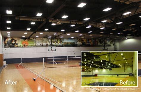 led high bay gym lighting cooper supplies led high bay lighting for university of