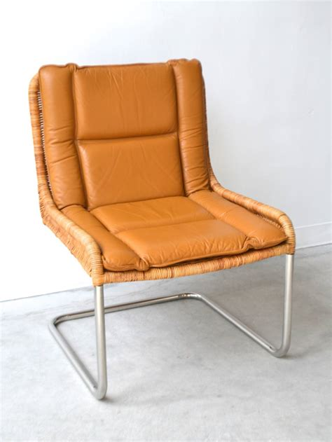leather woven chair woven rattan and leather occasional chair at 1stdibs