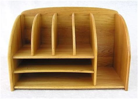 mail desk organizer 65 00 large sturdy oak wood desktop desk letter bill