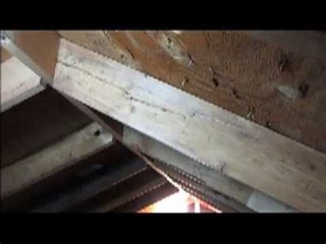 Framing Hip Roof How To Repair A Split Rafter Youtube