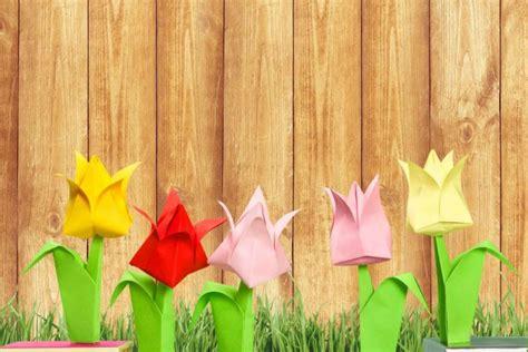 fiori di carta facili fiori di carta origami semplici tutorial donnad
