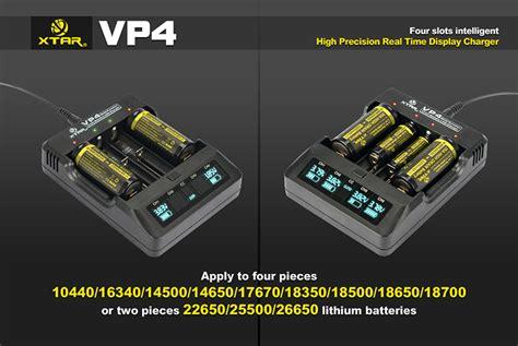 Ad5667 Charger Xtar Vp4 For 18650 26650 14500 Dll Sa Kode Gute5533 2 xtar vp4