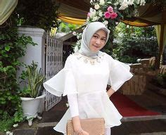 Bell Sleeves Blouse Muslim Atasan Baju Wanita modern bell sleeve lace top kebaya brokat organza baju bodo http www eiwaonline kebaya