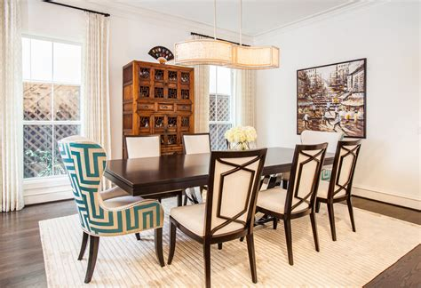 transitional dining room sets mixed dining room chairs dining room transitional with vibrant framed artwork czmcam org
