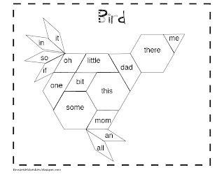 pattern block words first grade blue skies pattern blocks sight words
