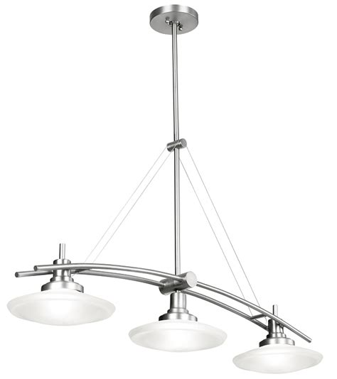 Brushed Nickel Island Lighting Structures Collection Brushed Nickel Contemporary 3 Light 38 Quot Island Light Kichler 2955ni