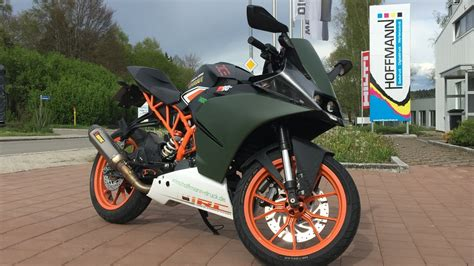 Ktm Rc 125 Autos by Ktm Rc 125 Tuning In Akrapovic Green