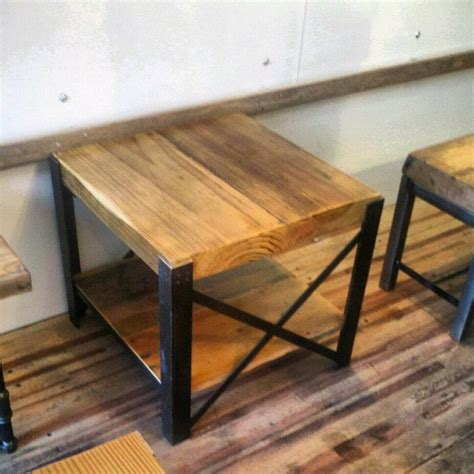 wood and metal coffee table reclaimed wood and steel coffee table quot x quot frame style