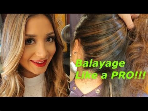 balayage hair color technique demo for highlights how to