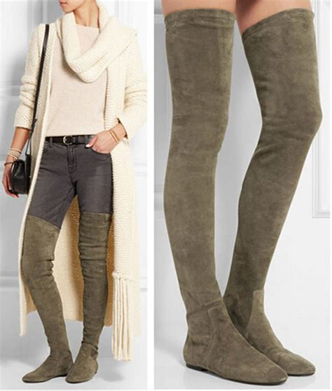 thigh high boots flat boot yc