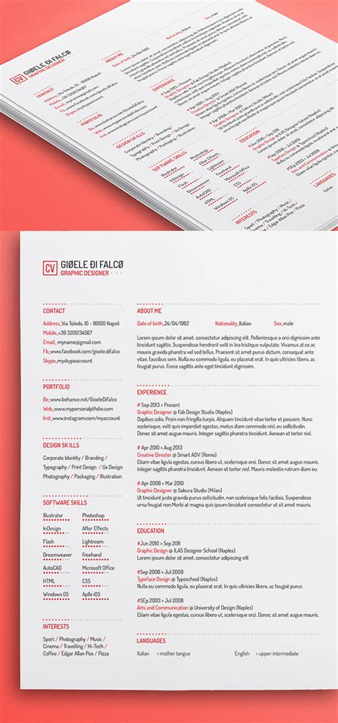 Resume Template Color by Colorful Resume Template