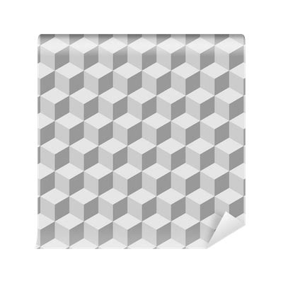 cube pattern png seamless tilable 3d isometric cube pattern wall mural