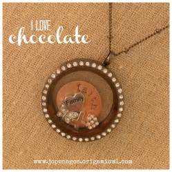 Origami Owl Large Gold Locket With Crystals - origami owl large chocolate locket with crystals on a