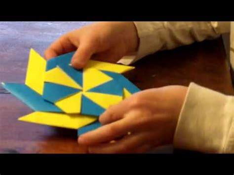How To Make A Origami Frisbee - origami frisbee reversable