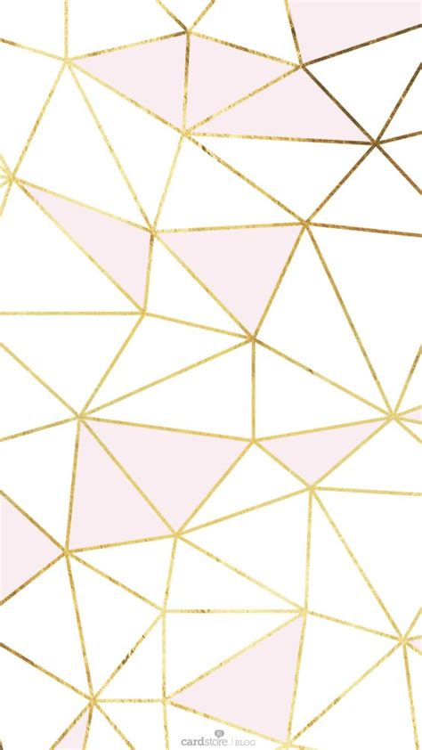 pattern lock color pink gold white geometric mosaic iphone phone wallpaper