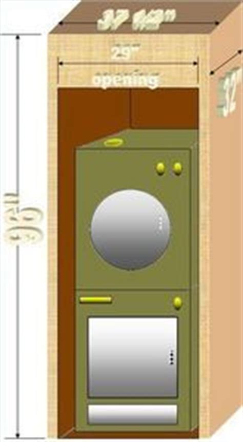 stacked washer dryer cabinet dimensions how to build a cabinet around a stacked washer dryer in