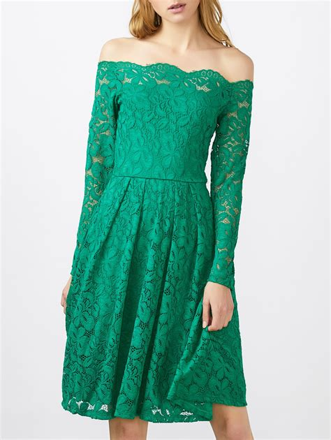 boat neck green dress lace dresses green l lace boat neck long sleeve dress