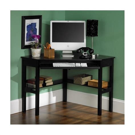 Black Wood Corner Computer Desk Southern Enterprises Corner Computer Desk In Painted Black Ho6643