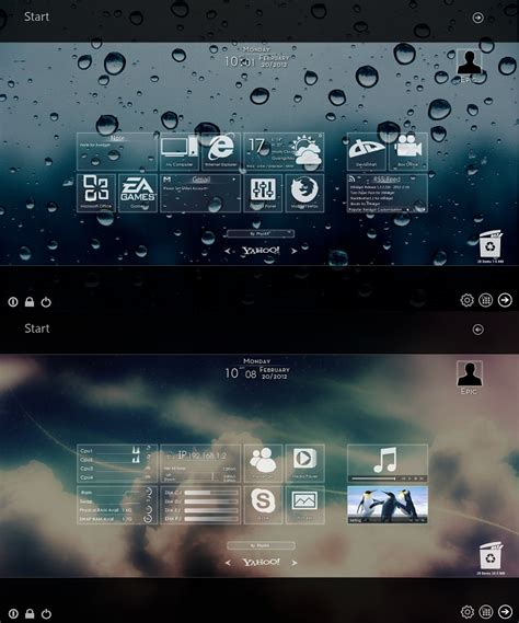clock themes for pc windows 7 windows 8 metro widget glass version for windows 7
