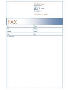 fax cover sheet template word 2003 fax cover sheet blue design template for word 2003 or