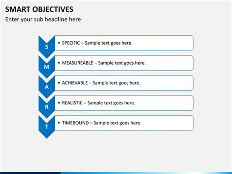 smart objectives template powerpoint smart objectives sketchbubble