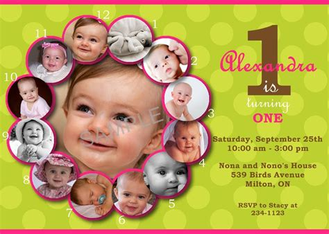 1st year birthday card template birthday invitation template best template collection