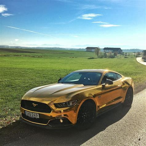 theme google chrome ford mustang classic ford mustang except this one is in gold chrome