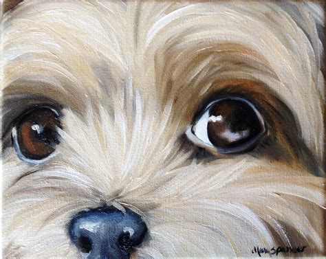 puppy painting sparrow terrier teacup puppy painting