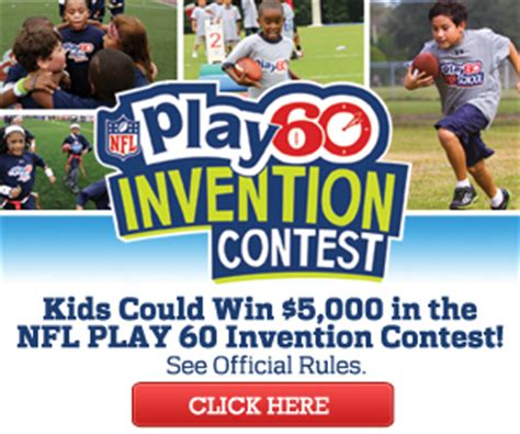 invention contest creative play ideas nfl play 60 invention contest