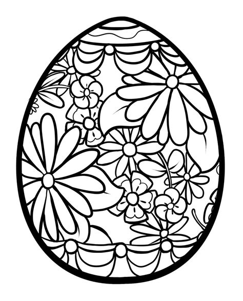 Egg Design Coloring Page | pictures of easter egg designs clipart best