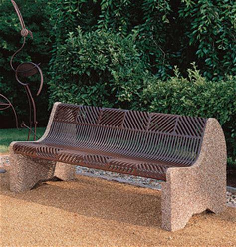 concrete park bench ends crescent park benches concrete park benches belson